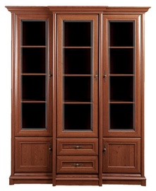 Шкаф-витрина Black Red White Kent Chestnut, 167x49x204 см