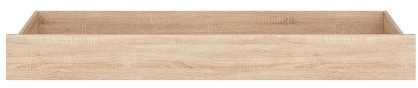 Black Red White Bed Drawer Nepo Plus 90 A Sonoma Oak