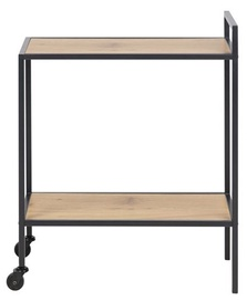 Сервировочный стол Home4you Seaford Serving Table 60x30x75cm Oak Black