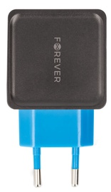 Forever TC-04 Dual USB Wall Charger 3.4A Black/Blue