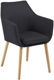 Ēdamistabas krēsls Home4you Nora, melna