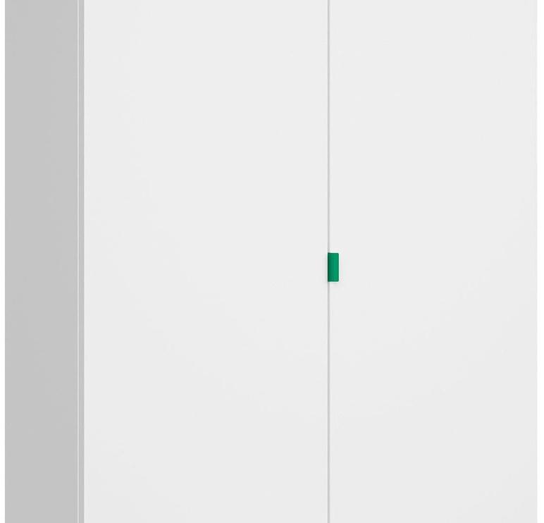 Skapis Black Red White Princeton White/Green, 100x56x206.5 cm