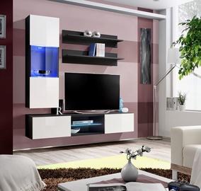 Dzīvojamās istabas mēbeļu komplekts ASM Fly S3 White/Black