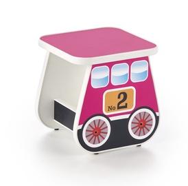 Bērnu krēsls Halmar Lokomo Pink