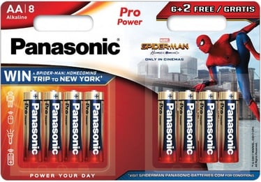 Panasonic Spiderman Pro Power 6+2 x AA