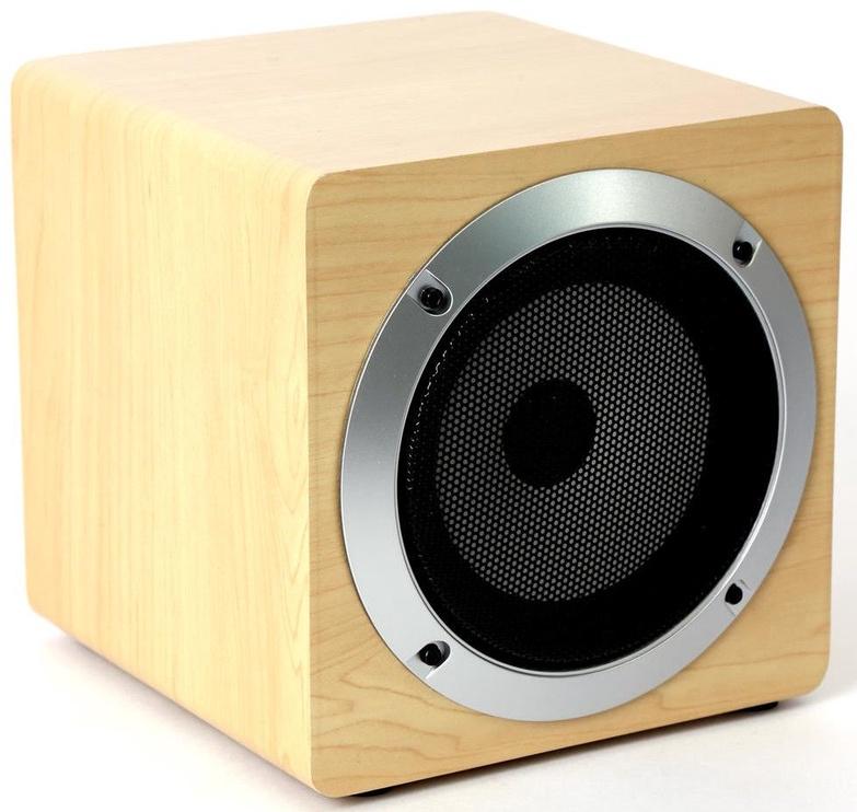 Bezvadu skaļrunis Omega OG60W Wooden Body Beige, 5 W
