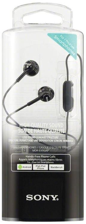 Наушники Sony MDR-EX110AP in-ear, черный