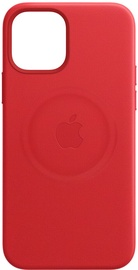 Apple MagSafe Leather Back Case For Apple iPhone 12 Pro Max Red