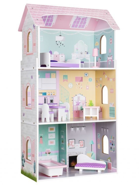 EcoToys Wooden Doll House Residence Of Jagodowa