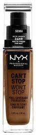 Tonizējošais krēms NYX Can't Stop Won't Stop CSWSF17.5 Sienna, 30 ml