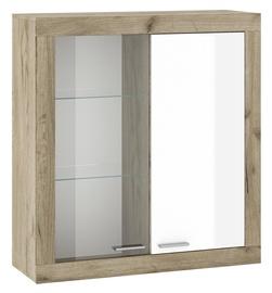 Шкаф-витрина Tuckano Warsaw WIT-100, белый/дубовый, 105x37x121 см