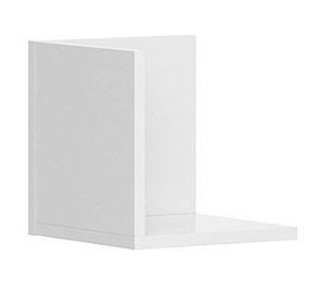 Black Red White Priceton Wall Shelf 25cm White