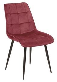 Ēdamistabas krēsls Signal Meble Chic Velvet, sarkana