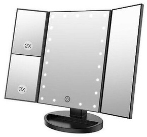 Superstar Magnifying Mirror with LED Lights Black