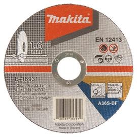 GRIEZRIPA 125 X 1,6X22,23MM INOX B-46931 (MAKITA)