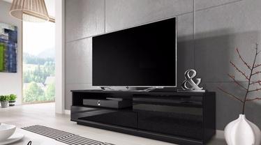 TV galds Cama Meble Muza Black, 1380x400x410 mm