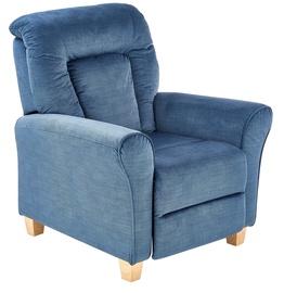 Atzveltnes krēsls Halmar Bards Dark Blue, 90x90x102 cm