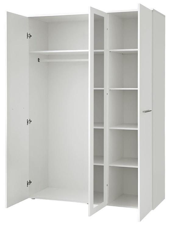 Skapis ASM Big White Matt, 135x55x190 cm, with mirror