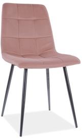 Ēdamistabas krēsls Signal Meble Mila Velvet 63, rozā