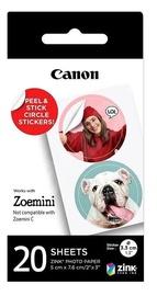 Foto papīrs Canon Zink Circle 20 Sheets, Uzlīmes / Canon ZINK