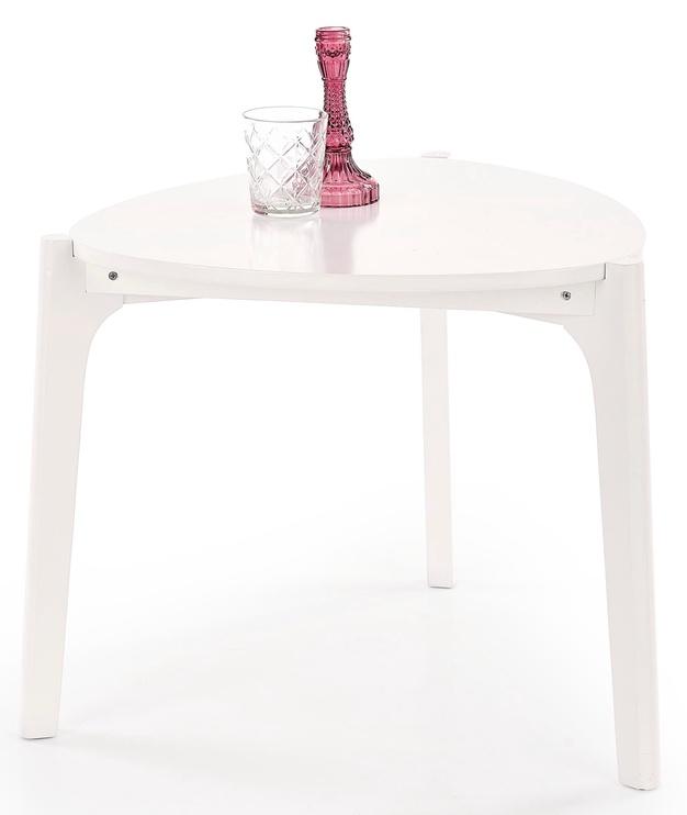 Kafijas galdiņš Halmar Cerda White, 580x580x500 mm