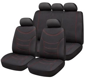Bottari Curve Seat Cover Set Black Red