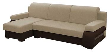 Stūra dīvāns Idzczak Meble Grey Beige/Brown, kreisais, 260 x 140 x 72 cm
