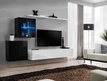 Dzīvojamās istabas mēbeļu komplekts ASM Switch XV Black/White