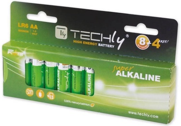 Techly Alkaline Batteries 12x AA