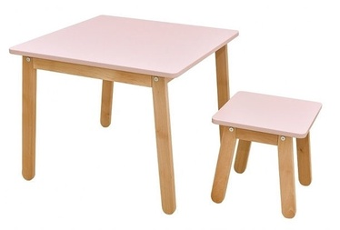 Bellamy Woody Table And Stool Pink