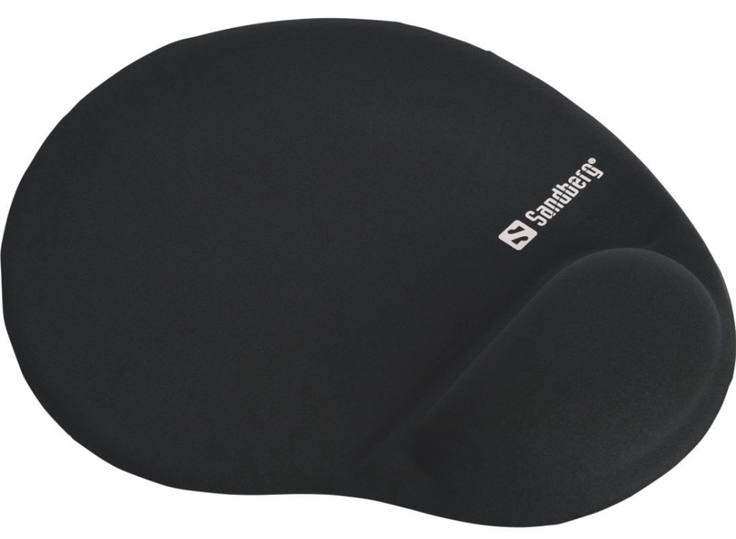 Sandberg Gel Mousepad with Wrist Rest Black