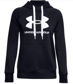 Under Armour Women's Rival Fleece Logo Hoodie 1356318 001 Black L