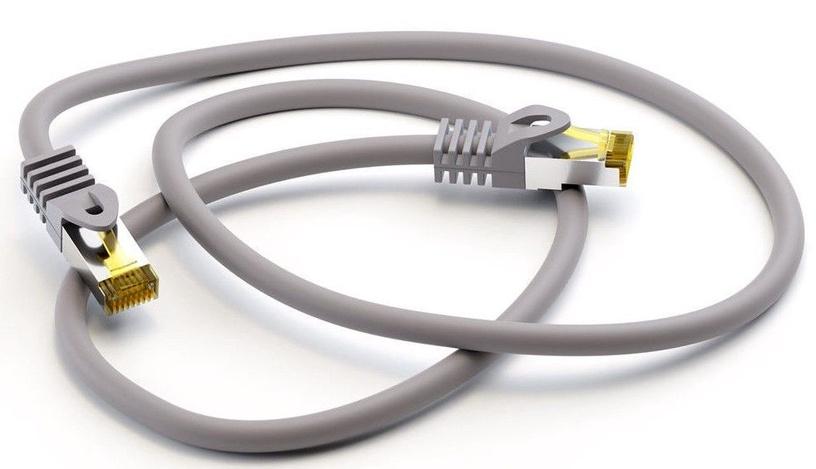 Goobay CAT 6A S/FTP PiMF Patch Cord 0.25m Grey