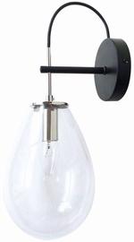 Light Prestige Fondi Wall Lamp 40W E14 Black/Transparent