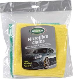 CarPlan Triplewax Microfibre Cloth Triple Pack