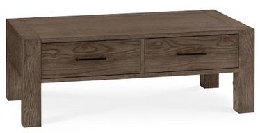 Kafijas galdiņš Home4you Turin Dark Brown/Oak, 1100x600x400 mm
