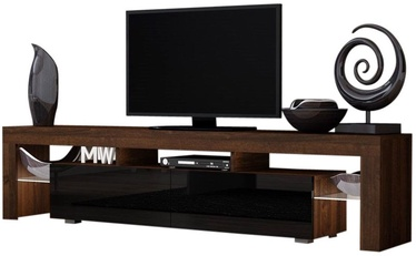 ТВ стол Pro Meble Milano 200 Walnut/Black, 2000x350x450 мм