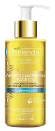 Kosmētikas noņemšanas līdzeklis Bielenda Skin Clinic Argan Cleansing Face Oil Hyaluronic Acid, 140 ml