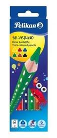 Pelikan Карандаши цветные, Silverino, трехгранные, SOFT, грубый, 6 цветов