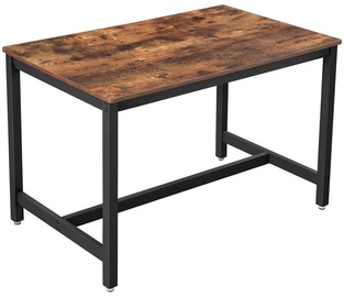 Pusdienu galds Songmics Industrial Style, brūna/melna, 1200x750x750mm