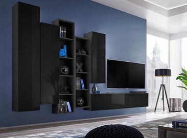 ASM Blox V Living Room Wall Unit Set Black
