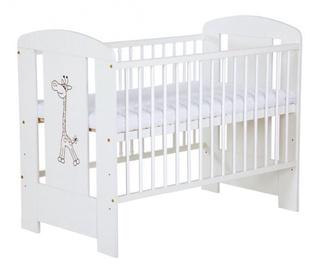 Детская кровать Klups Safari Giraffe White, 124x66 см