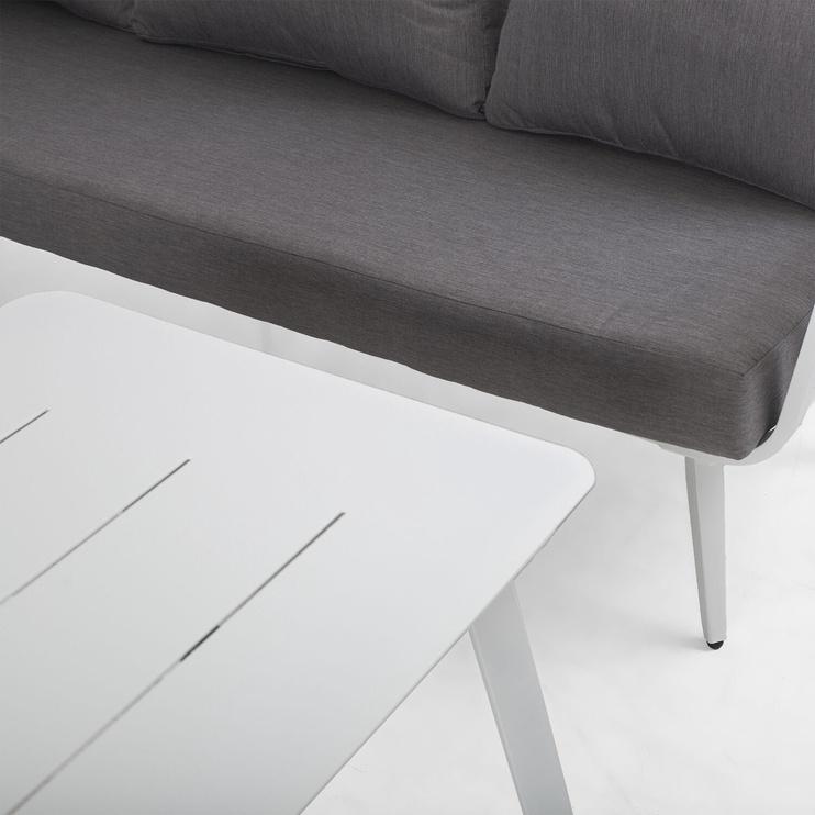 Садовый диван Home4you Corner, белый/серый