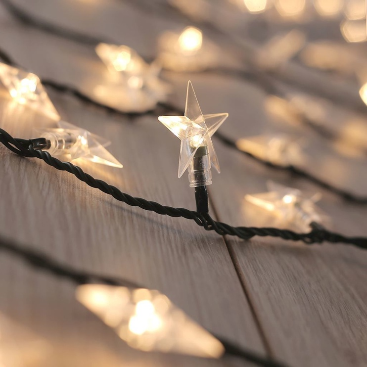 Elektriskā virtene DecoKing LED Star, balta, 12.5 m