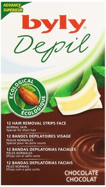 Byly Depil Face Hair Removal Strips 12pcs Chocolate