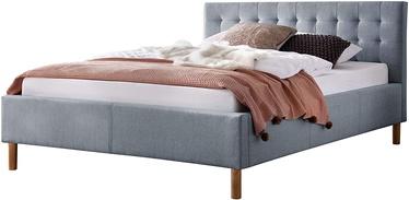 Кровать Meise Möbel Malin, голубой, 217x154 см, с решеткой