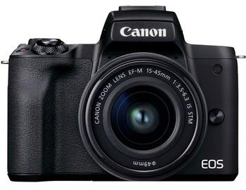 Sistēmas fotoaparāts Canon EOS M50 Mark II + EF-M 15-45mm IS STM Black