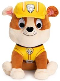 Плюшевая игрушка Spin Master Paw Patrol Rubble, коричневый/желтый, 22 см