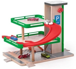 Woody Plastic Garage With Lift 93070