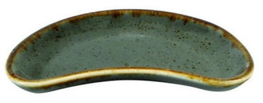 Porland Seasons Curved Plate For Snacks 10.9x7.35cm Dark Grey